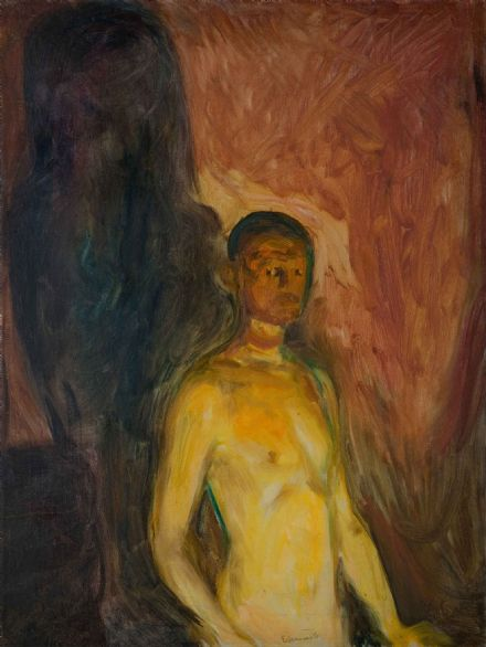 Munch, Edvard: Self-Portrait in Hell. Fine Art Print/Poster (0082)